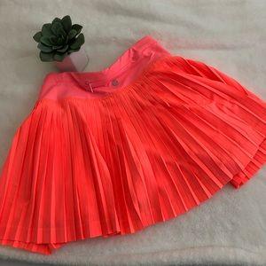 Neon orange/salmon Lululemon skort size 10